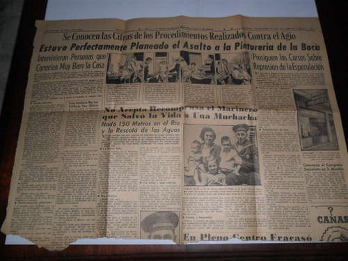 nota 1947 asalto pintureria de la boca curso especulacion