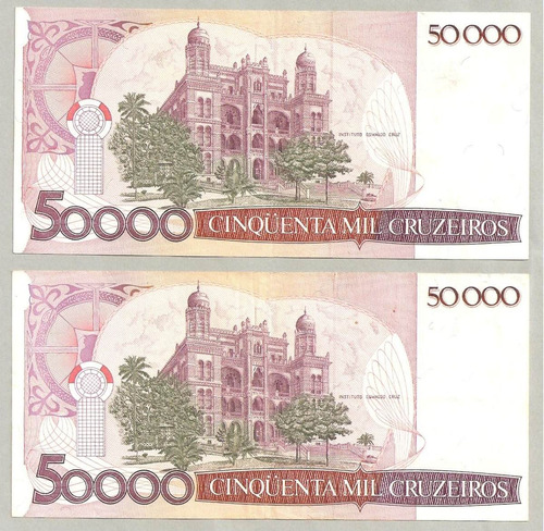 nota dinheiro antigo cédula 50 cruzados 1986 c-178 - barato