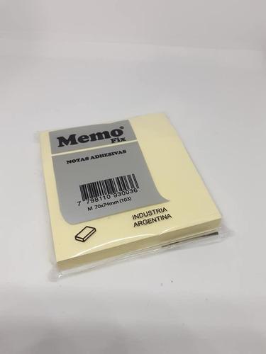 notas adhesivas memo fix 70x74 amarillo