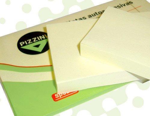 notas adhesivas pizzini amarillas 75x75 mm 400 hojas na75754