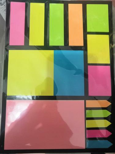 notas adhesivas tiras marcapaginas