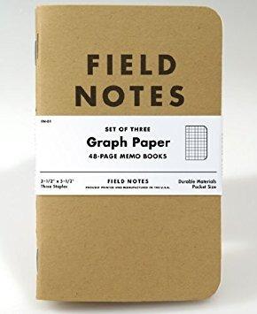 notas de campo kraft gráfico 3-pack