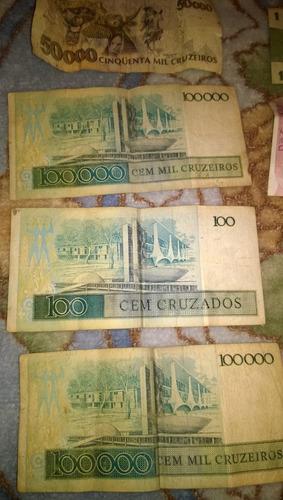 notas de dinheiro antigo cruzeiro