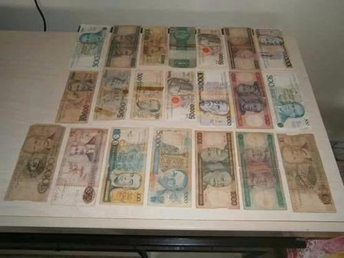 notas moeda brasileiras antigas para coleção.