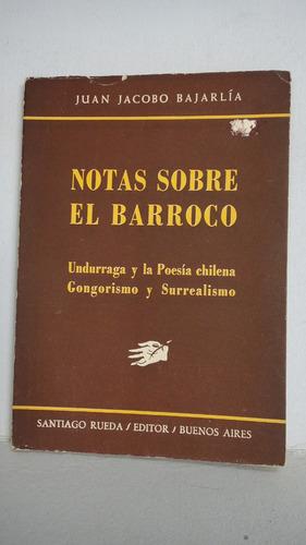 notas sobre el barroco juan bajarlia microcentro/retiro