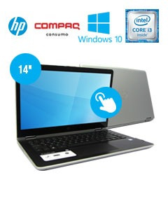 notebook 2-in-1 hp pavilion x360, 14  touch, intel core i3-7