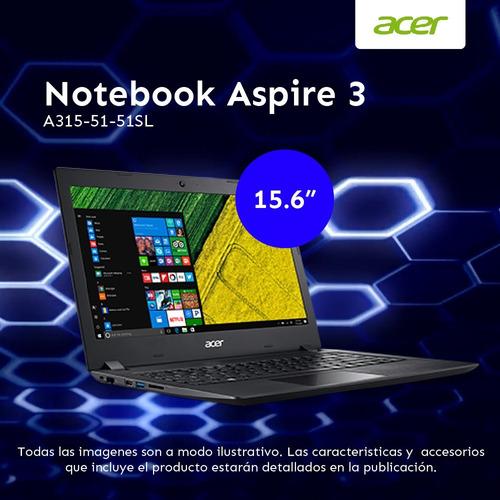 notebook acer 15.6 i5 7200u 6gb h/12gb 1tb windows 10 home