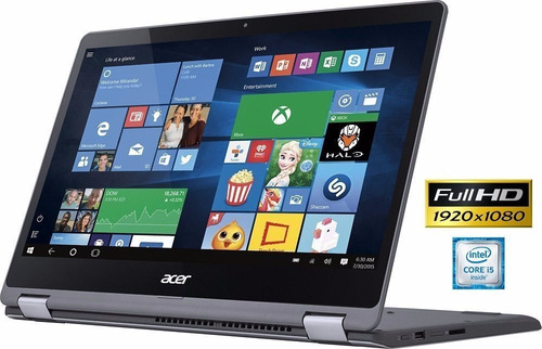 notebook acer 2 em 1 r5-571t i5 20gb 256 ssd 15.6 fhd touch