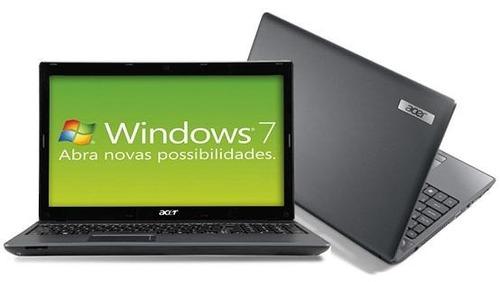 notebook acer 5733 i3 4gb 500gb windows 15,6'' led