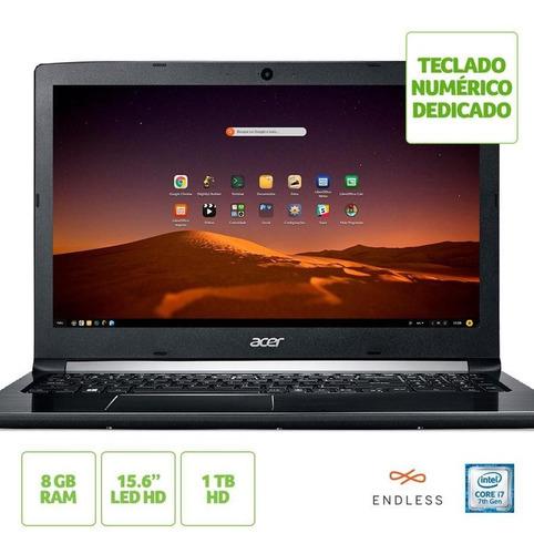 notebook acer aspire 5 a515-51-71a4 i7 8gb 1tb