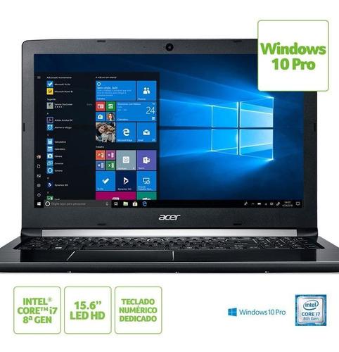 notebook acer aspire 5 a515-51-c2tq intel core i7 8ªgeração 8gb hd 1tb tela 15.6  hd windows 10 pro