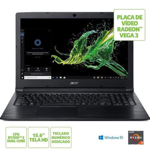 notebook acer aspire a315-41-r41j ryzen 3 8gb 1tb 15.6 w10