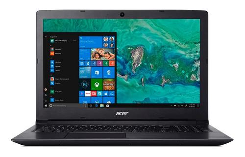 notebook acer aspire a315-53-32u4 intel® core i3-7020u 4gb