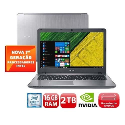 notebook acer aspire f5-573g-74dt i7-7500u 16gb 2tb placa gr