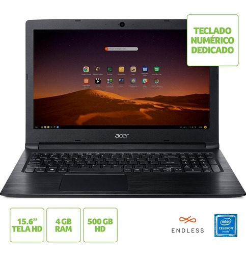 notebook acer aspire intel® celeron®