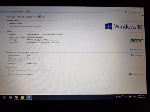notebook acer aspire v5 touch i5 8gb 750gb nvidia710 lcd15,6