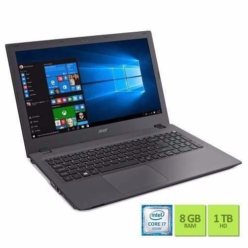 notebook acer e5-574-78lr i7 8gb 1tb 15.6 w10 nacional
