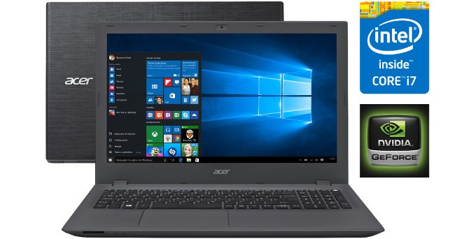 38a0b0f54 Notebook Acer E5 Core I7 8gbram 1tb Hd Geforce Promoção - R  2.699 ...