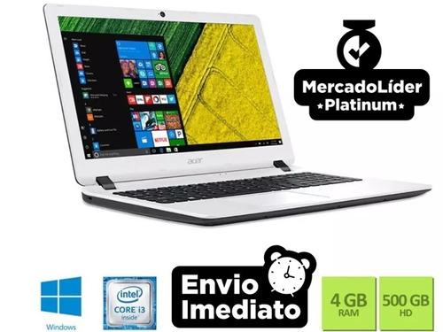 notebook acer es1-572-347r i3 6006u 4gb 500gb win10 15.6