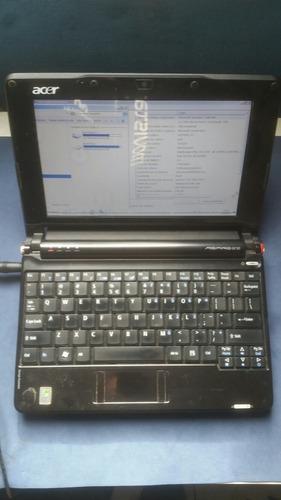 notebook acer one zg5 1.5gb ram 160hd 10.1 bateria extendida