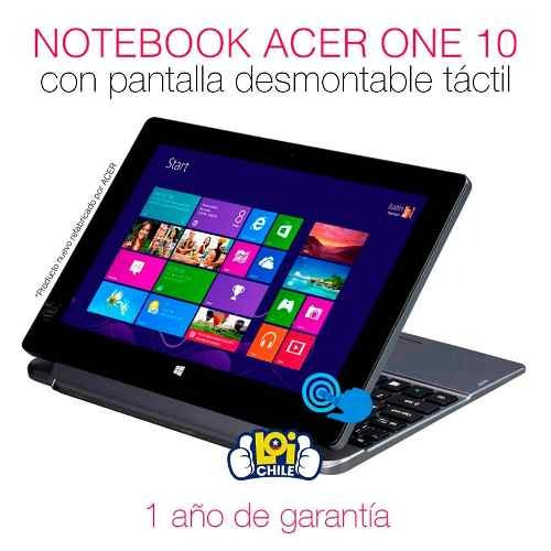 notebook acer switch 2 en 1 quad core 10.1 touch loi chile