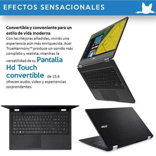 notebook acer touch 15.6 intel i7 6500u 12gb ram 1 tb hdd
