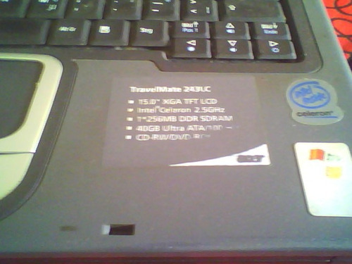 notebook acer travelmate 240 para respuestos