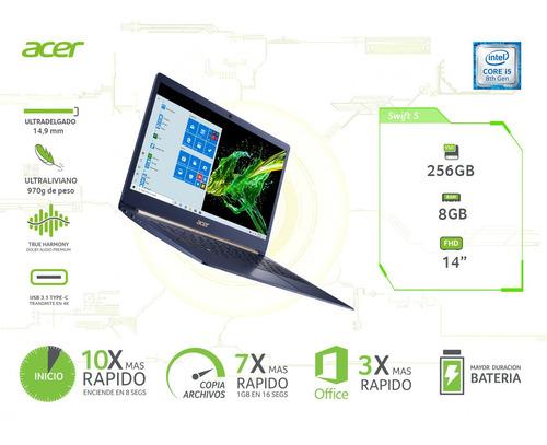 notebook acer ultradelgado+core i5 + touch + 8gb ram+256ssd