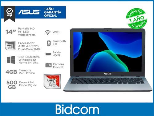 notebook asus amd a6 500gb 4gb pantalla 14 video r4 radeon windows