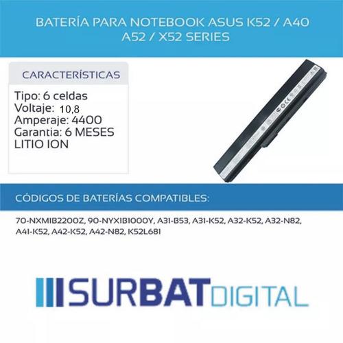 notebook asus bateria