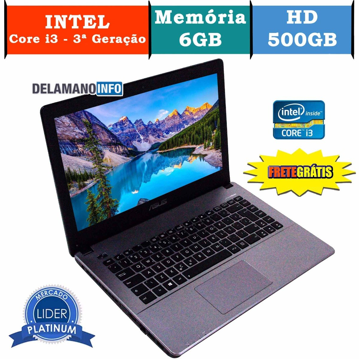 75f5a223d notebook asus intel core i3 2365m 6gb ram promoção (10129). Carregando zoom.