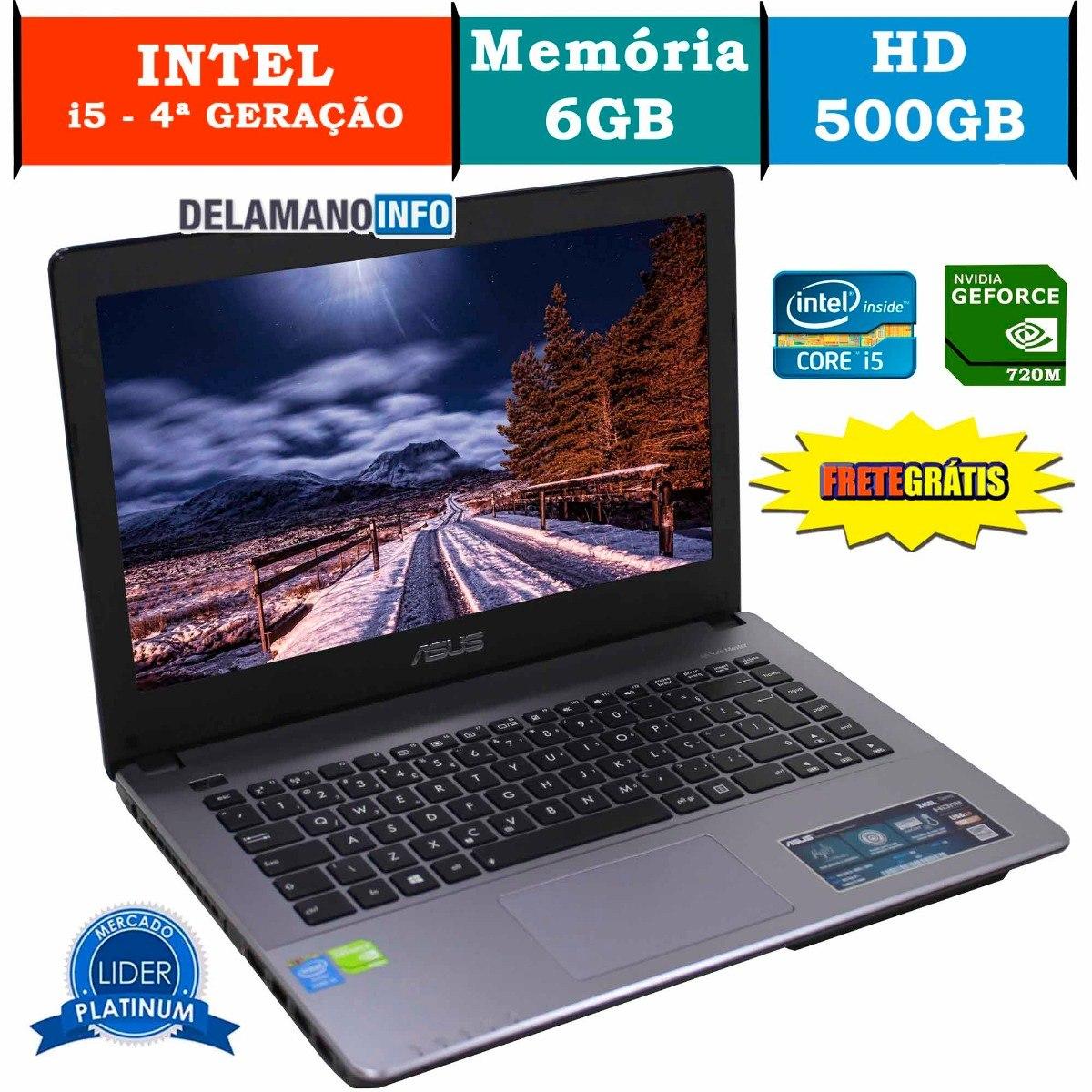 5b505fbd8 notebook asus intel core i5 6gb ram 500gb promoção (11048). Carregando zoom.