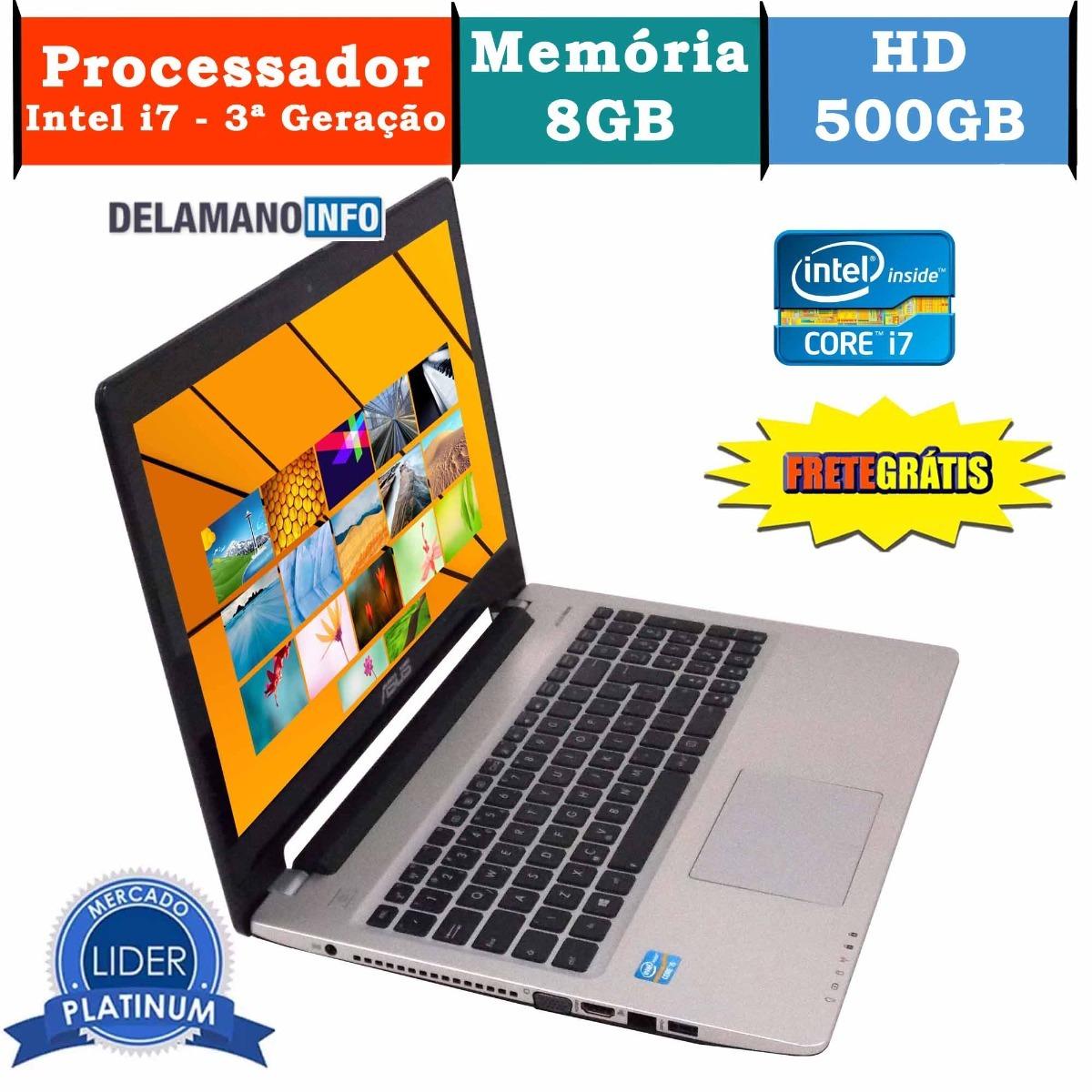 e1fb1cd6d notebook asus intel core i7 8gb ram 500gb hd promoção (9947). Carregando  zoom.