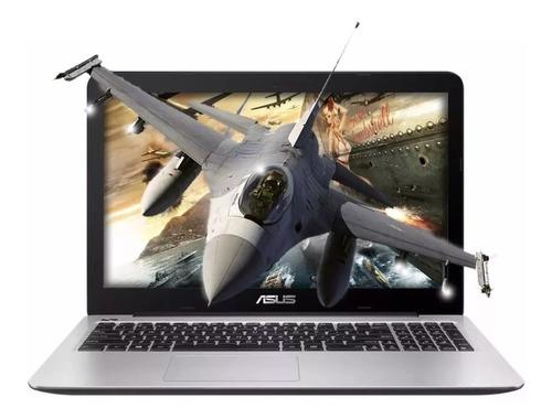 notebook asus intel dual core hd usb hdmi 15.6 4gb 500gb