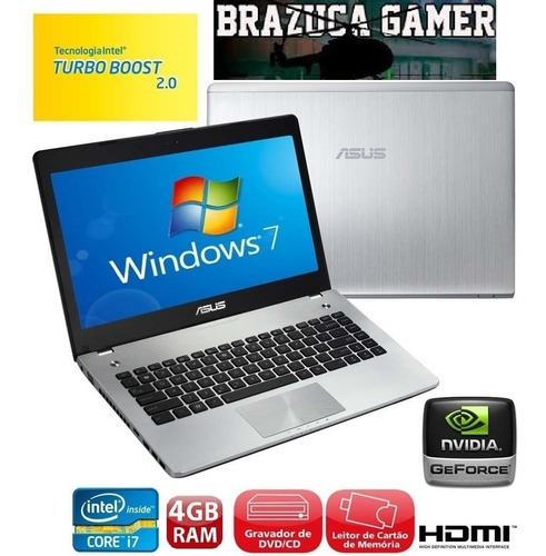 notebook asus n46vm  i7-3610qm 8gb 1tb geforce gt630m gamer