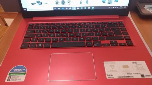 notebook asus vivobook x510u vermelho i7 4gb 1tb 15,6 w10