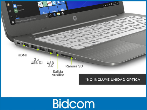 notebook cloudbook  hp celeron n3060 4gb ssd 32gb 14 win 10