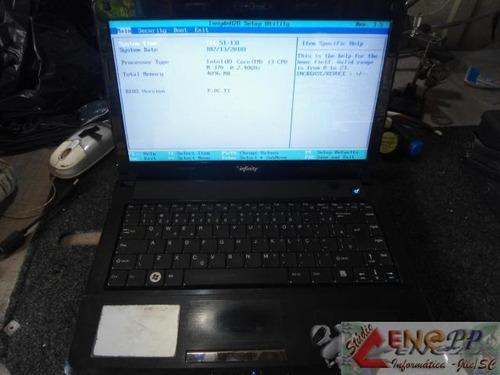 notebook compal ncl 60/61 - i3 c/ 4gb ram - valor negociável
