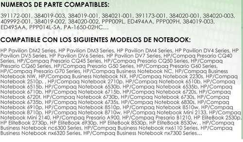notebook compaq cargador para