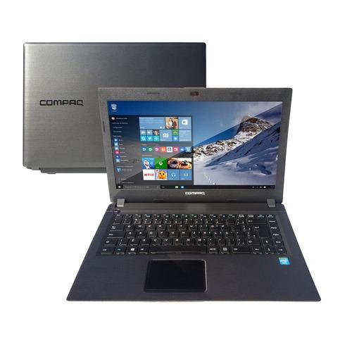 notebook compaq cq23 com celeron dual core, win10 4gb, 500gb