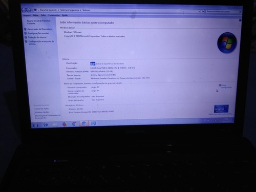 notebook compaq presario cq43 core i5/ 4gb/ 500hd