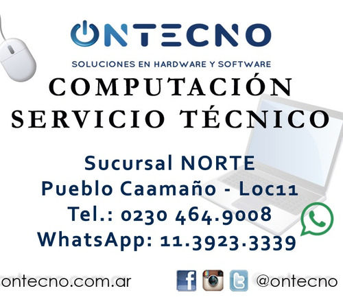 notebook computación servicio