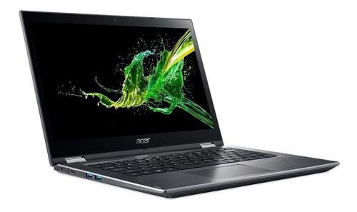 notebook conversível acer spin 3 sp314-51-c3zz intel core i7 8ªgeração 8gb ssd 256gb tela 14  hd touch screen windows 10