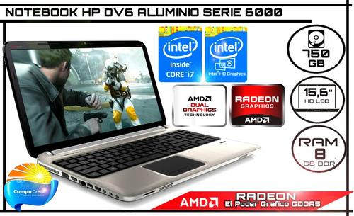 notebook core i7 octa core 8gb ram 750gb disco video x2 vea