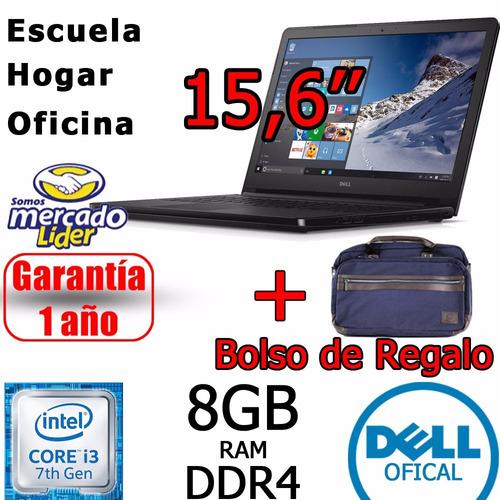 notebook dell core i3 8gb 1tb 15.6 hd touchscreen + bolso
