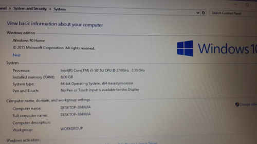 notebook dell inspiron 15 3000series impecable core i3