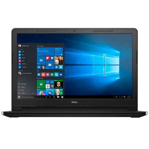 notebook dell intel 15.6'  500gb win10 bt 12 pagos s/r loi