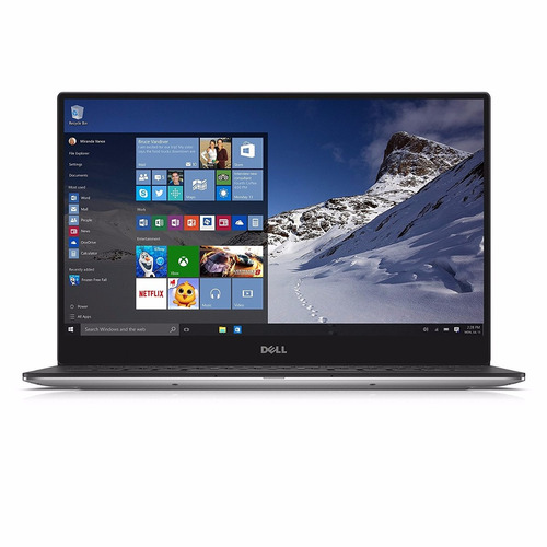 notebook dell xps 13 i5-7200u 8gb 256ssd silver win 10