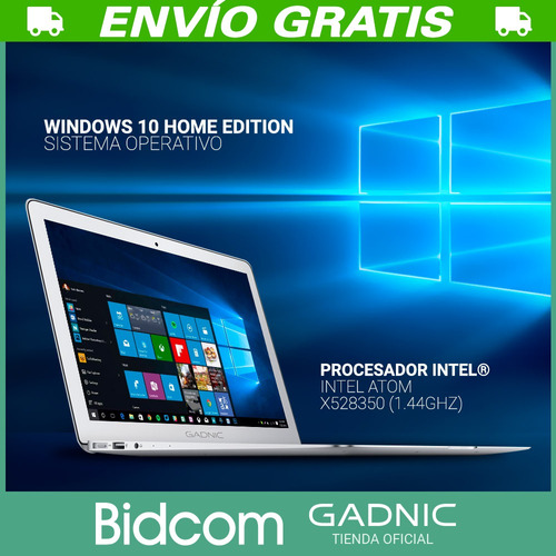 notebook gadnic 14 2gb intel windows 10 cloudbook netbook ssd