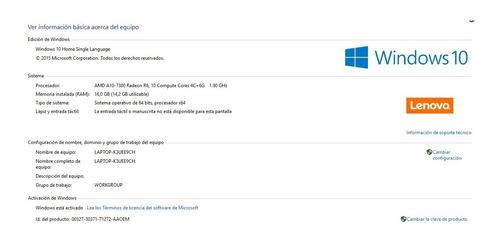 notebook gamer a10 7300/ 16gb ram / 3gb video r6 / 1tb hdd